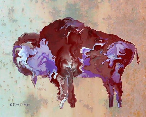 Digital Art - Digital Bison 6c by Kae Cheatham