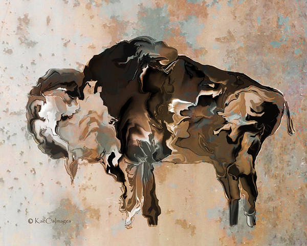 Digital Art - Digital Bison 6d by Kae Cheatham