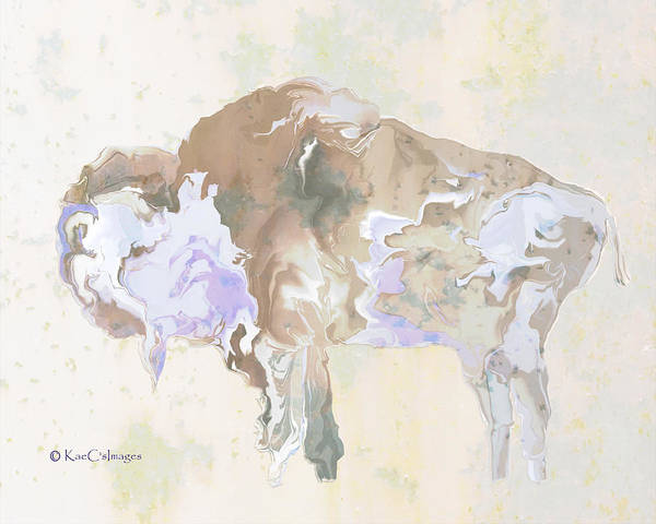 Digital Art - Digital Bison 6e by Kae Cheatham