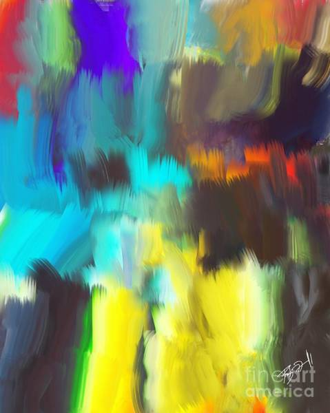Photograph - Digital Brush Strokes  by Rob Mandell