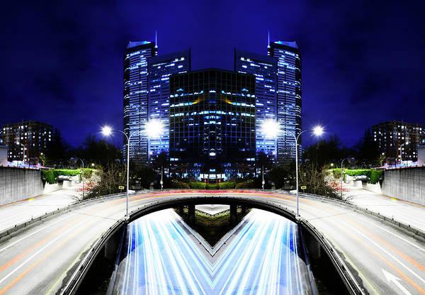 Washington Street Photograph - Digital Composite Of City Scape by Thomas Northcut