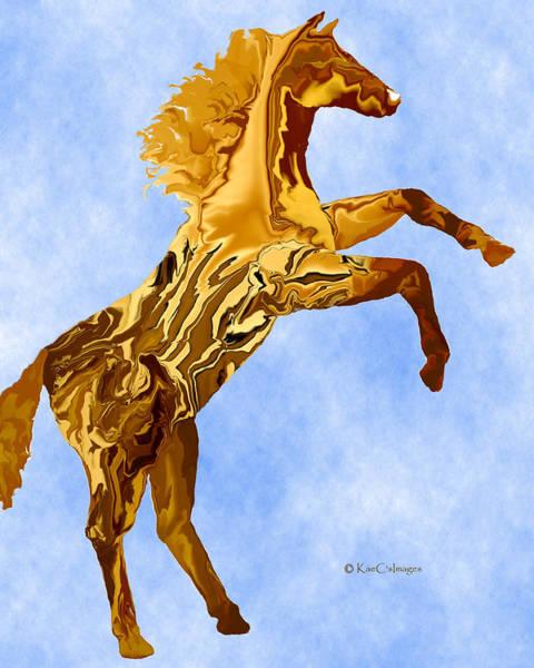 Digital Art - Digital Horse 2 by Kae Cheatham