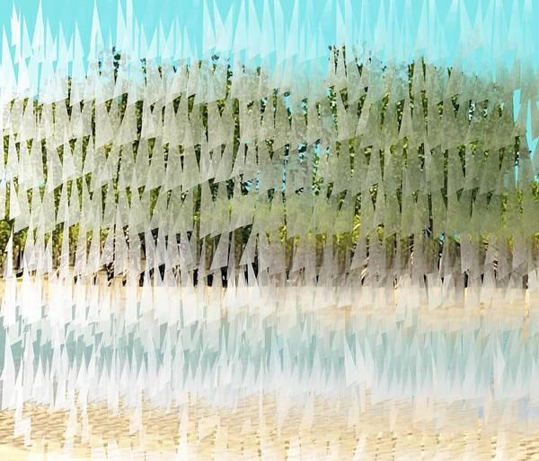 Mixed Media - Glitched Mangroves by Joan Stratton