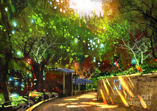 Sunlight Digital Art - Digital Painting Showing Beautiful by Tithi Luadthong