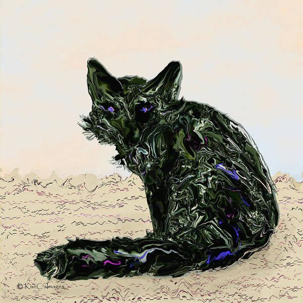 Digital Art - Digital Red Fox #1 by Kae Cheatham