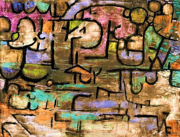 Color Block Painting - Digital Remastered Edition - After The Flood by Paul Klee