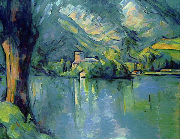 Wall Art - Painting - Lake Annecy - Digital Remastered Edition by Paul Cezanne