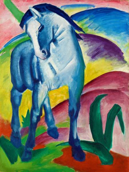 Franz Painting - Digital Remastered Edition - Blue Horse 1 by Franz Marc