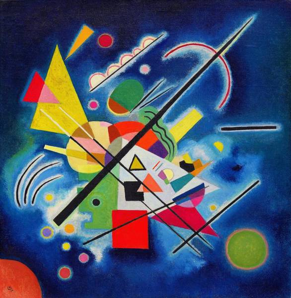 Wall Art - Painting - Digital Remastered Edition - Blue Painting by Wassily Kandinsky