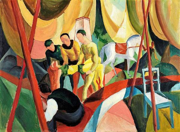 Wall Art - Painting - Digital Remastered Edition - Circus by August Macke