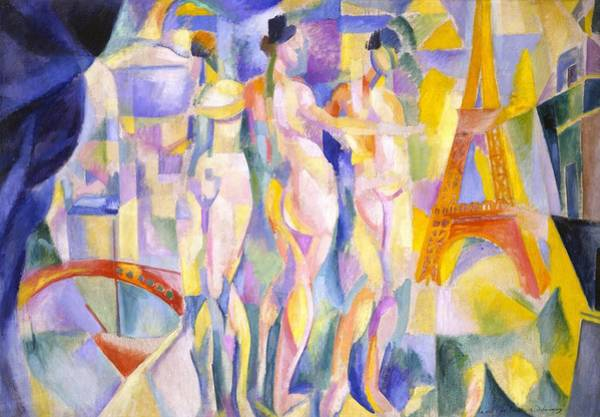 Wall Art - Tapestry - Textile - Digital Remastered Edition - City Of Paris by Robert Delaunay