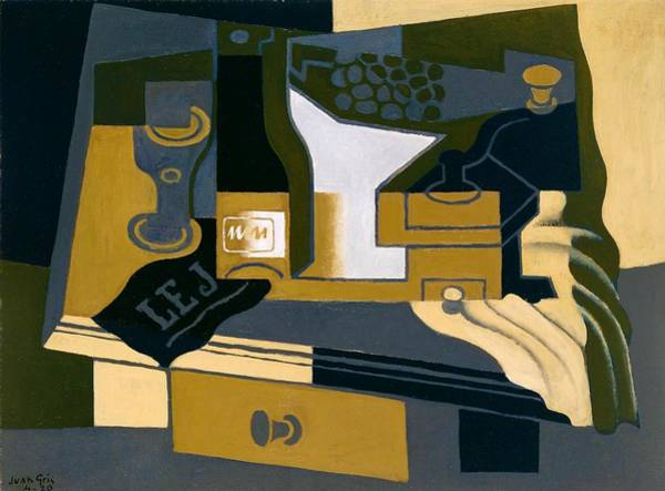 Wall Art - Painting - Digital Remastered Edition - Coffee Mill by Juan Gris