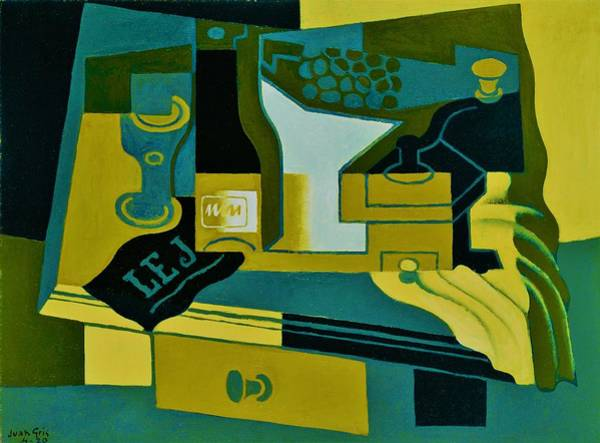Wall Art - Painting - Digital Remastered Edition - Coffee Mill - Original Green by Juan Gris
