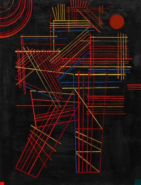 Wassily Kandinsky Painting - Digital Remastered Edition - Colored Stick by Wassily Kandinsky