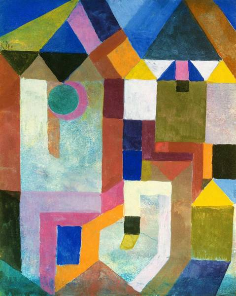 Enthusiasm Wall Art - Painting - Digital Remastered Edition - Colorful Architecture by Paul Klee