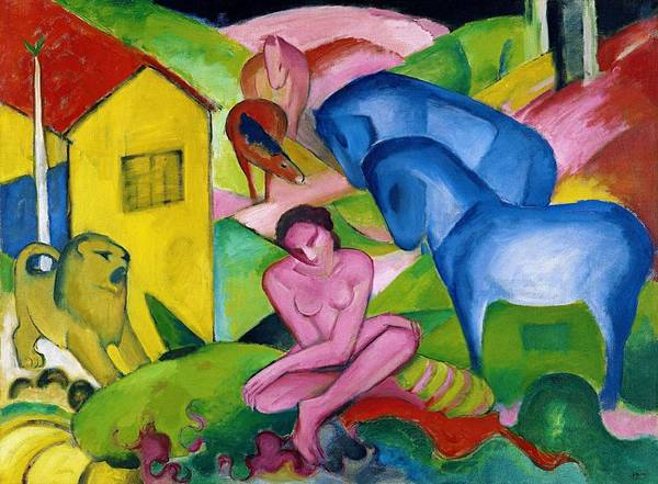 Wall Art - Painting - Digital Remastered Edition - Dream by Franz Marc