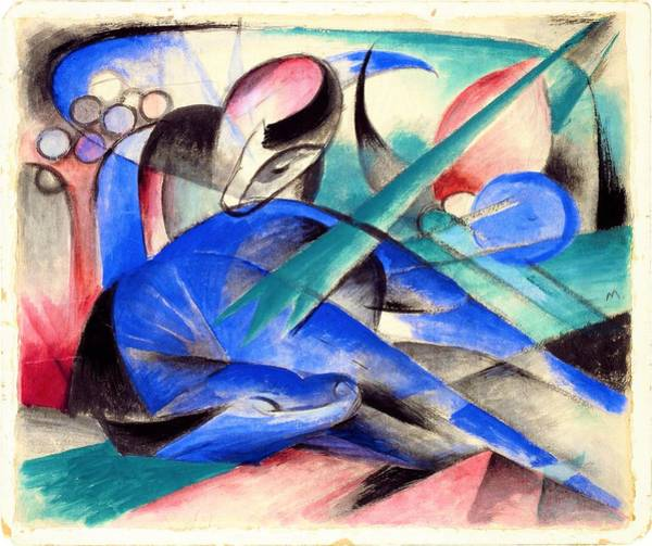 Franz Painting - Digital Remastered Edition - Dreaming Horse by Franz Marc