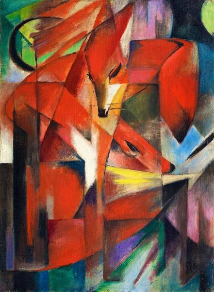 Franz Painting - Digital Remastered Edition - Foxes by Franz Marc
