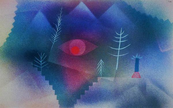 Enthusiasm Wall Art - Painting - Digital Remastered Edition - Glance At Landscape - Original Blue by Paul Klee