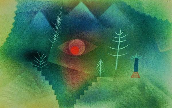 Monsters Painting - Digital Remastered Edition - Glance At Landscape - Original Green by Paul Klee