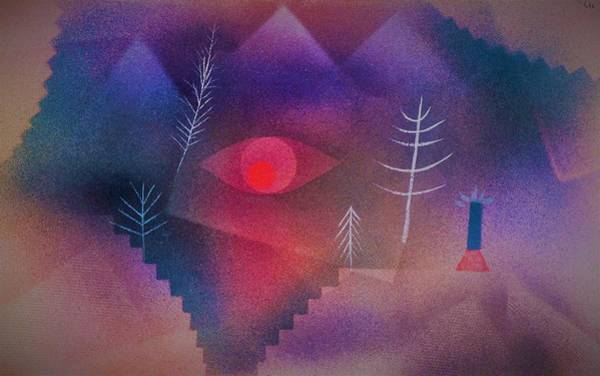 Monsters Painting - Digital Remastered Edition - Glance At Landscape - Original Purple by Paul Klee