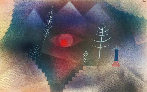 Wall Art - Painting - Digital Remastered Edition - Glance At Landscape by Paul Klee