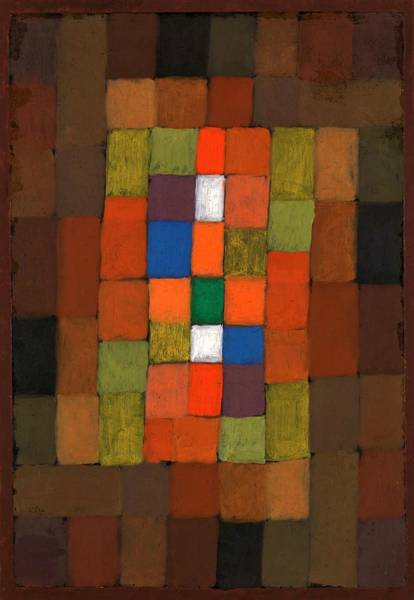 Color Block Painting - Digital Remastered Edition - Gradation Of Static And Dynamic by Paul Klee
