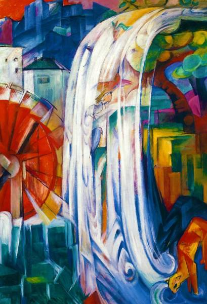 Franz Painting - Digital Remastered Edition - Magical Waterwheel by Franz Marc