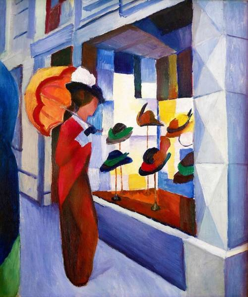 Blue Dress Painting - Digital Remastered Edition - Milliner by August Macke