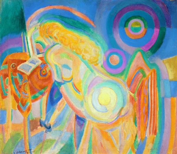 Wall Art - Painting - Digital Remastered Edition - Nude Toilet by Robert Delaunay