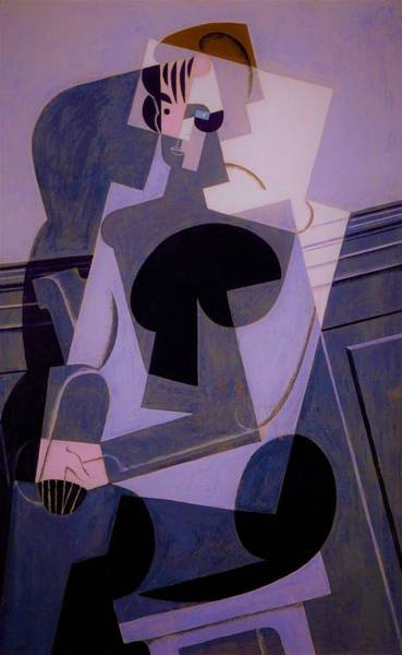 Wall Art - Painting - Digital Remastered Edition - Portrait Of Josette Gris - Original Purple by Juan Gris