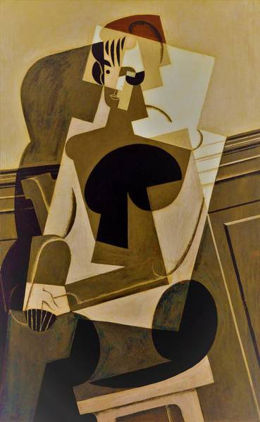 Wall Art - Painting - Digital Remastered Edition - Portrait Of Josette Gris - Original Yellow by Juan Gris