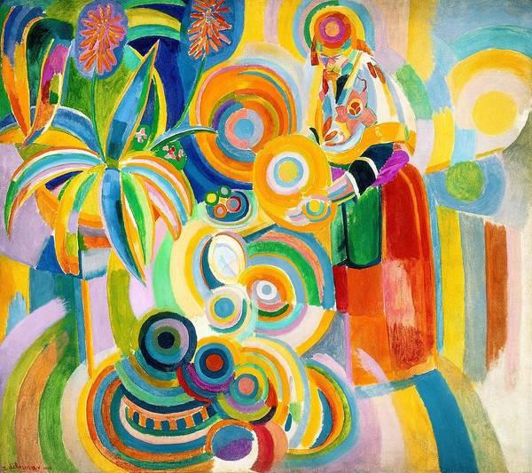 Circular Painting - Digital Remastered Edition - Portuguese Woman by Robert Delaunay