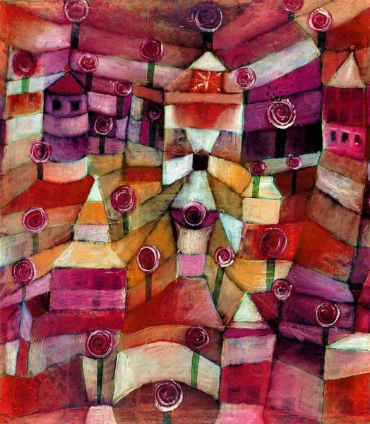 Color Block Painting - Digital Remastered Edition - Rose Garden by Paul Klee