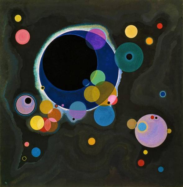 Wassily Kandinsky Painting - Digital Remastered Edition - Several Circles by Wassily Kandinsky
