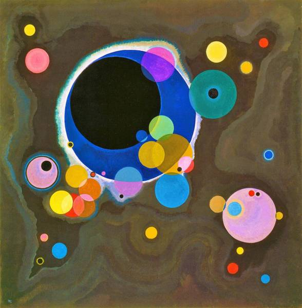 Wassily Kandinsky Painting - Digital Remastered Edition - Several Circles - Original Light Brown by Wassily Kandinsky