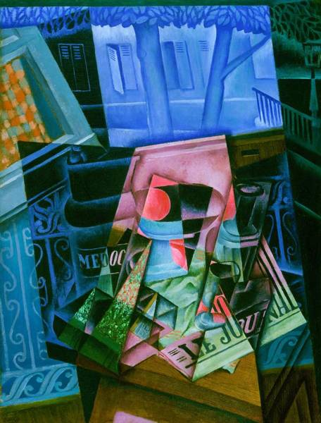 Wall Art - Painting - Digital Remastered Edition - Still Life Of Newspaper - Still Life In Front Of Open Window by Juan Gris