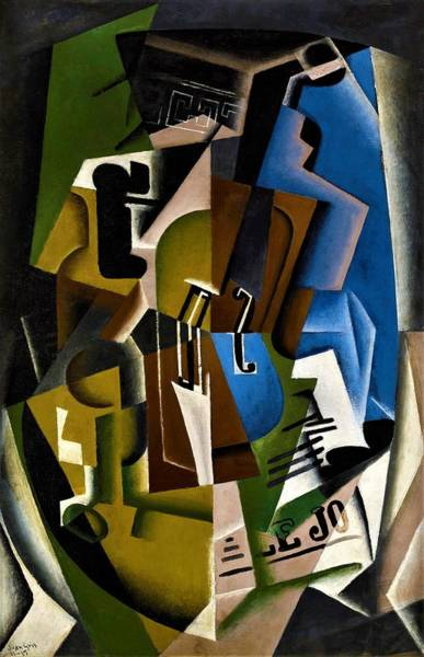 Wall Art - Painting - Digital Remastered Edition - Still Life Of Newspaper - Violin And Newspaper by Juan Gris