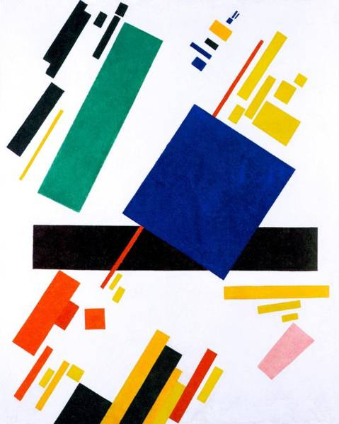 Wall Art - Painting - Digital Remastered Edition - Suprematist Composition by Kazimir Severinovich Malevich