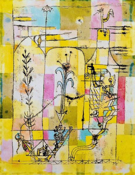 Felicitous Wall Art - Painting - Digital Remastered Edition - Tale A La Hoffmann by Paul Klee
