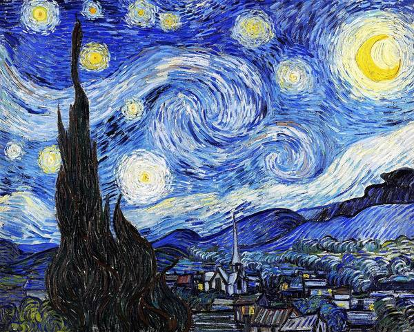 Wall Art - Painting - Digital Remastered Edition - The Starry Night by Vincent Willem van Gogh
