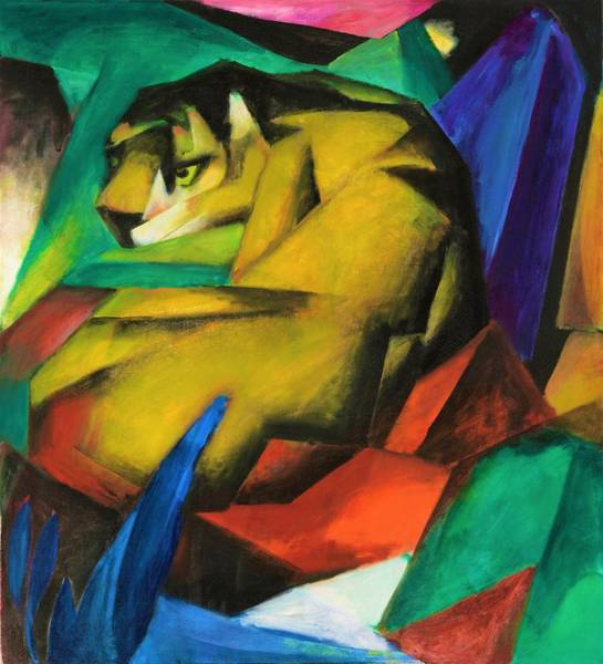 Franz Painting - Digital Remastered Edition - The Tiger by Franz Marc