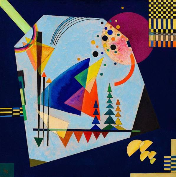 Enthusiasm Wall Art - Tapestry - Textile - Digital Remastered Edition - Three Sounds by Wassily Kandinsky