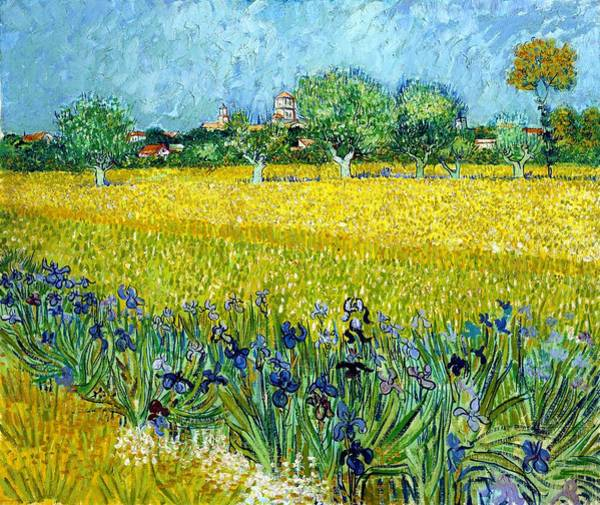 Wall Art - Painting - Digital Remastered Edition - View Of Arles With Irises In The Foreground by Vincent van Gogh