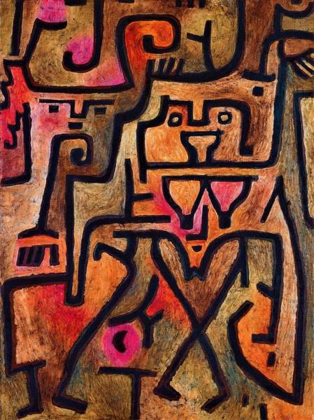 Enthusiasm Wall Art - Painting - Digital Remastered Edition - Witch Of The Forest by Paul Klee