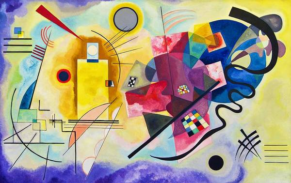 Wall Art - Painting - Digital Remastered Edition - Yellow, Red, Blue by Wassily Kandinsky