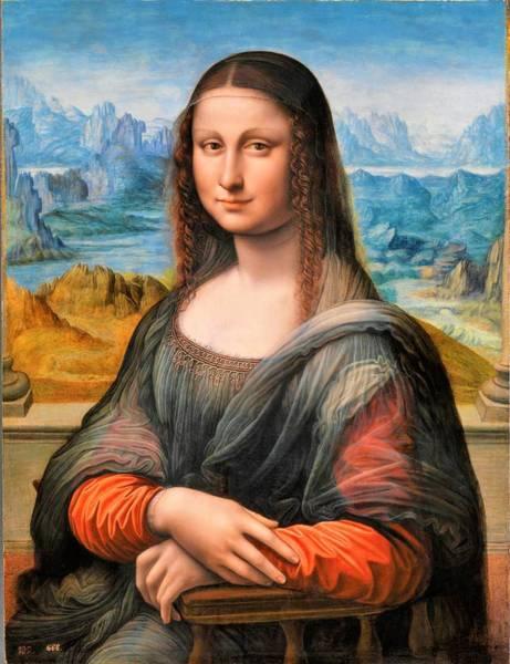 Prado Wall Art - Painting - Digital  Restored Edition - Mona Lisa by Leonardo da Vinci