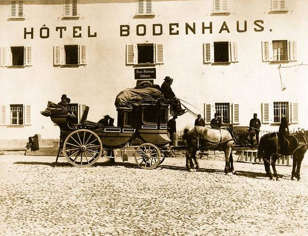 Stagecoach Photograph - Diligence by Hulton Archive