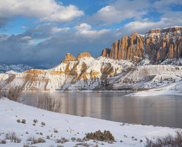 Photograph - Dillon Pinnacles In Winter, Curecanti by