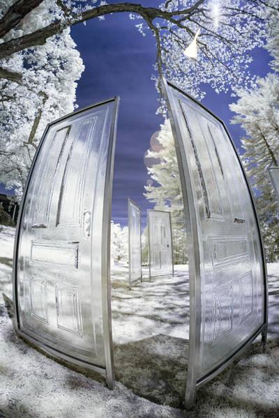 Dimensional Doors Art Print